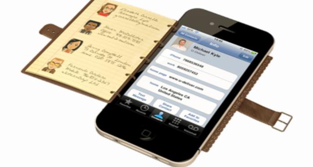 Slaag de gegevens van de dienstverleners op dankzij de persoonlijk adresboek